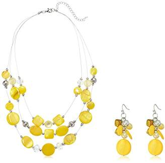 Womens Yellow Illusion Necklace