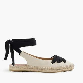 Ankle-wrap espadrilles $118 thestylecure.com