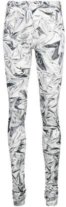 MM6 MAISON MARGIELA diamond print leggings