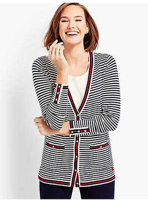 Talbots O, The Oprah Magazine Collection for Embroidered Stripe Cardigan