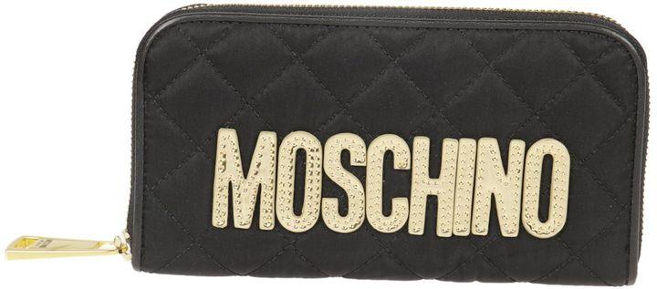 MoschinoMoschino Quilted Design Zip Around Wallet