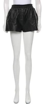 Acne Studios Leather Mini Shorts