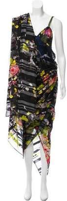 Jean Paul Gaultier Printed Silk Maxi Dress