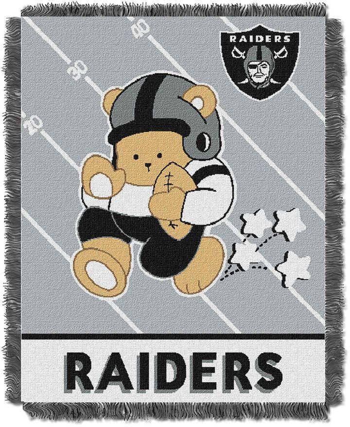 Oakland raiders baby jacquard throw