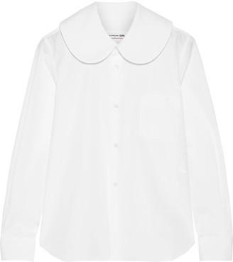 Comme des Garçons GIRL - Cotton-poplin Shirt - White $335 thestylecure.com