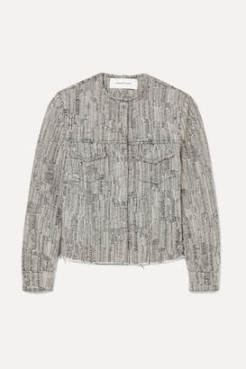 Marques Almeida Marques' Almeida - Cotton-blend Tweed Jacket - Black