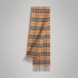 Burberry Childrens The Mini Classic Vintage Check Cashmere Scarf