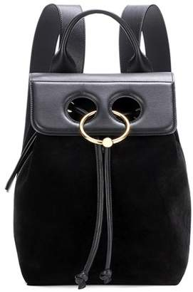 J.W.Anderson Pierce mini leather and suede backpack