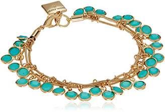Anne Klein Gold-Tone Three Row Shaky Bracelet