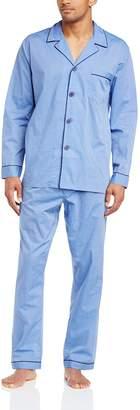 Majestic International Men's Easy Care Long Sleeve Pajama Set