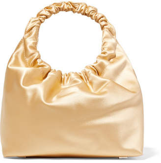 The Row Double Circle Small Satin Tote - Gold