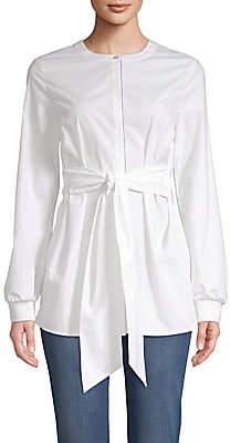St. John Women's Tie-Waist Button-Front Shirt