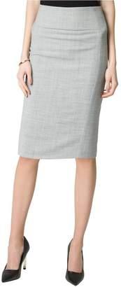 Le Château Women's Crosshatch Stretch Viscose Blend Skirt