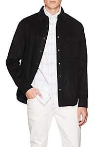 Rag & Bone Men's Wool-Blend Felt Shirt Jacket - Navy