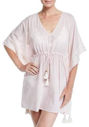 Tory Burch Ravena Embroidered Coverup Caftan