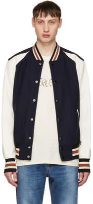 Off-White Coach 1941 Navy and Wool Varsity Jacket