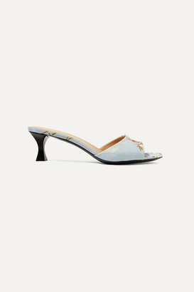 Brock Collection Tabitha Simmons Jacquard Mules - Blue