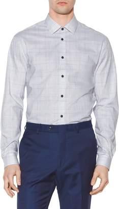 John Varvatos Slim Fit Plaid Dress Shirt