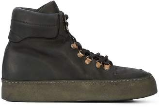Guidi lace-up platform boots