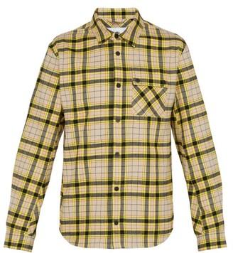 Aztech mountain Aztech Mountain - Baldwin Checked Cotton Shirt - Mens - Yellow Multi