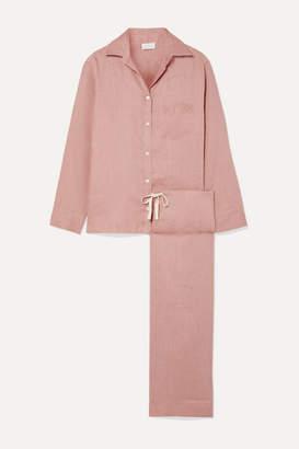 Pour Les Femmes - Linen Pajama Set - Antique rose