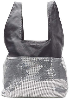 Paco Rabanne Leather Shopper with Sequins