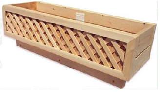 BarHarborCedar Cedar Deck Box Rail Planter