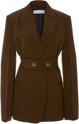 Victoria Beckham Belted Wool Blazer