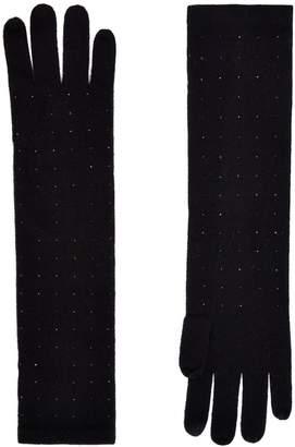 William Sharp Long Cashmere Embellished Gloves