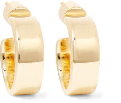 Jennifer Fisher Flat Plate Huggie Gold-plated Hoop Earrings
