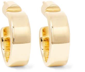 Jennifer Fisher Flat Plate Huggie Gold-plated Hoop Earrings
