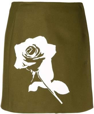 MSGM printed rose short skirt