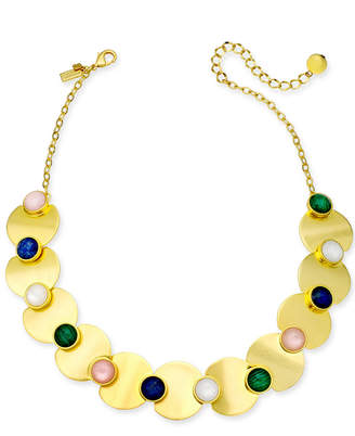 """Kate Spade Gold-Tone Multi-Stone Collar Necklace, 17"""" + 3"""" extender"""