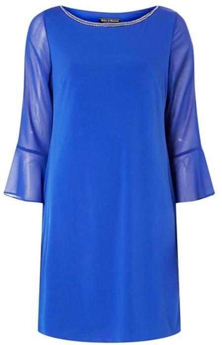 Womens **Billie & Blossom Black Label Cobalt Shift Dress