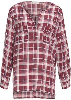 Joie Checked Silk Top