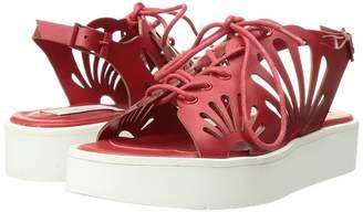 Stella McCartney Flores Platform Sandals w/ Floral Cut-Outs Girl's Shoes