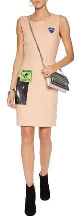 Love Moschino Appliquéd Cotton-Blend Dress