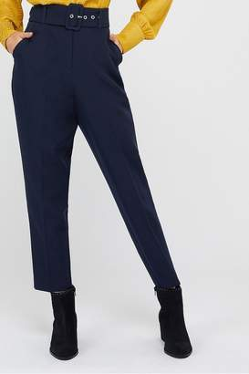 Monsoon Womens Ladies Blue Erica Tapered Leg Trousers - Blue