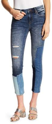 Miss Me Patchwork Ankle Skinny Jeans