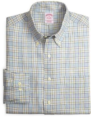 Brooks Brothers Regular Fit Linen Check Sport Shirt