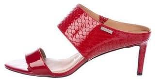 Calvin Klein Patent Leather Slide Sandals
