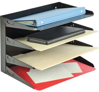 MMF Industries MMF, MMF264R4HBK, Horizontal Desk File Trays, 1 Each, Black