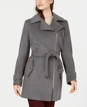 Michael Kors Michael Petite Asymmetrical Belted Coat