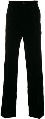 Giorgio Armani elasticated waistband straight trousers