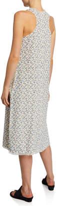 Lilla P Ikat Woven Cotton Fringe Dress