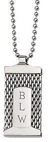 """Forza Stainless Steel Engravable Mesh Pendant a nd 24"""" Chain"""