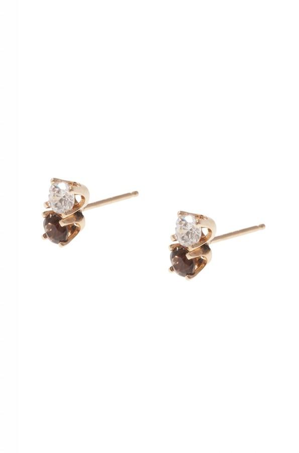Poupette Diamond Stone Earrings