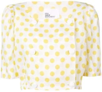 Lisa Marie Fernandez polka-dot cropped blouse