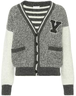 Saint Laurent Wool varsity cardigan