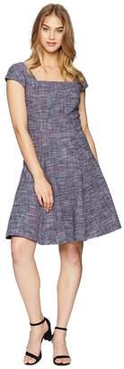 Rebecca Taylor Sleeveless Stretch Tweed Dress Women's Dress